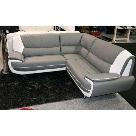 canapé gris simili cuir design canape angle moderne droit ou gauche