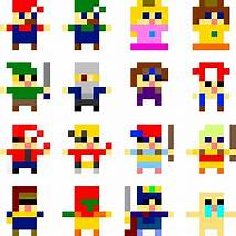 8X8 Pixel Art Characters Game Character Sprites