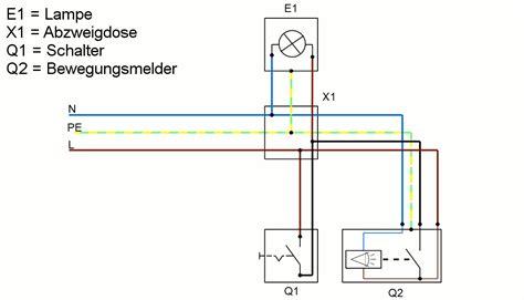 Wechselschaltung Mit 2 Bewegungsmelder Schaltplan Fireball Search