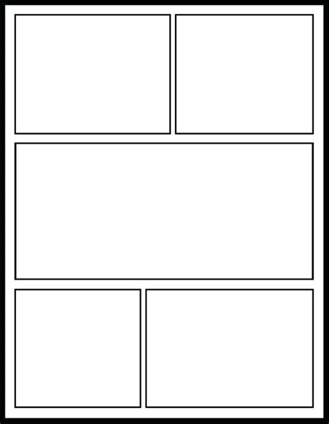 panel comic strip template poporonco
