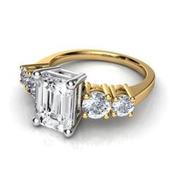 emerald shape engagement rings and emerald cut engagement ring