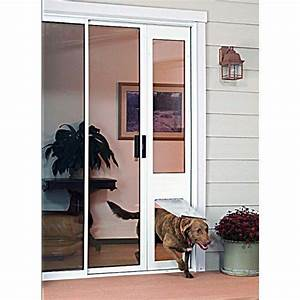 Removable pet door panel insert pet door products for Removable dog door for sliding glass door