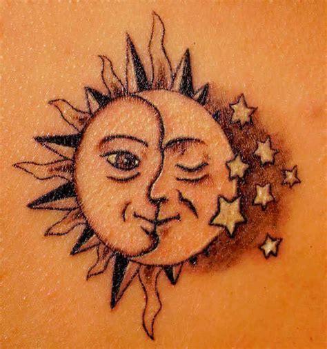 elegant sun tattoos designs