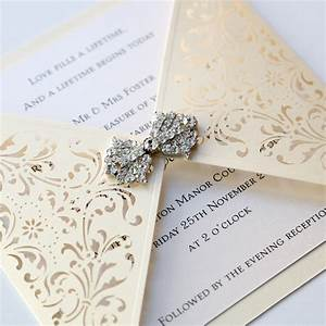ivory gatefold laser cut wedding invitation vintage With laser cut pocket wedding invitations uk