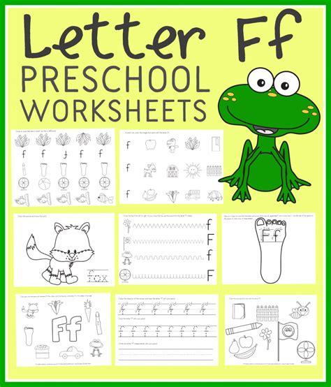 free letter f preschool worksheets instant
