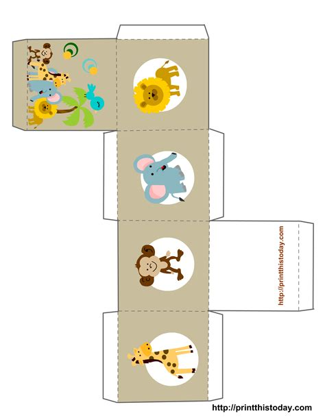printable baby shower favor boxes templates