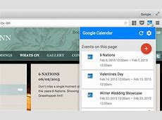 Official Google Calendar Chrome Extension Makes Date With