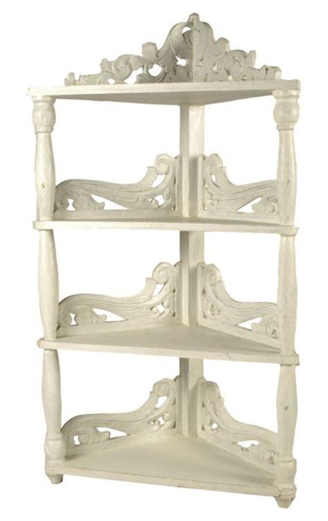 Antique White Corner Bookcase by Buy Papa Theo 3 Tier Corner Shelf In Antique White Finish