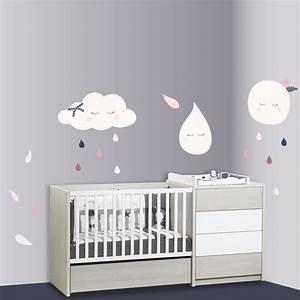Sticker Chambre Bebe : stickers chambre b b xxl lune miss chipie de sauthon baby deco sur allob b ~ Melissatoandfro.com Idées de Décoration