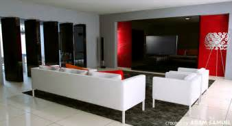 amazing ideas for decorating living room with red and grey wall painting interior design ideas