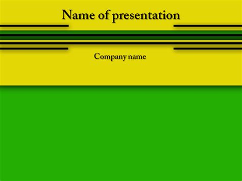 yellow green powerpoint template big apple templates