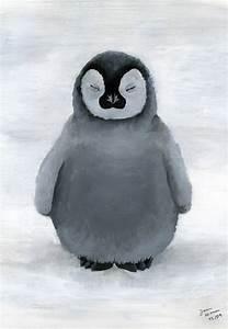 Cute Penguin Couple Drawing