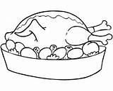 Clip Coloring Chicken Thistle Thanksgiving Library Clipart Cliparts sketch template