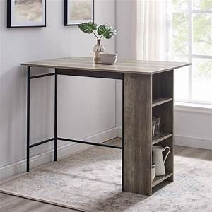 48, U0026quot, Counter, Height, Drop, Leaf, Table, With, Storage