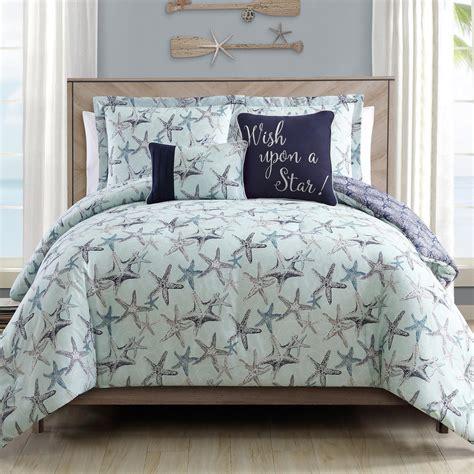 coastal starfish comforter set 5 piece christmas tree