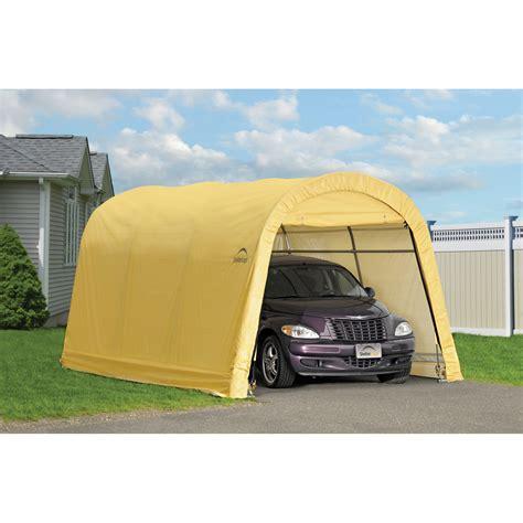 portable garage shelter shelterlogic autoshelter roundtop 1015 portable garage