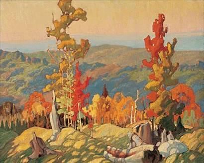 Seven Paintings Canvas Landscape Sizes Tom Canadian