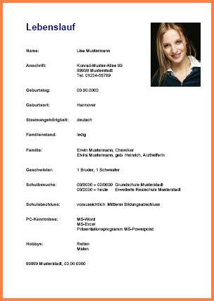 Lebenslauf Muster Für Schüler by 15 Bewerbungsschreiben Praktikum Vorlage Exemple Cv