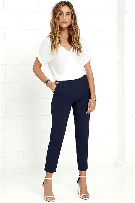 Navy Blue Pants Womens Outfit With Beautiful Styles u2013 playzoa.com
