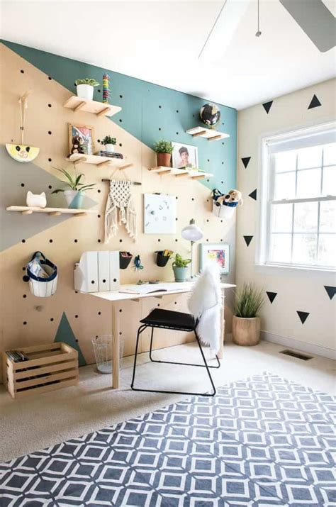 diy plywood pegboard wall so cool and chic dream house home decor and design home decor