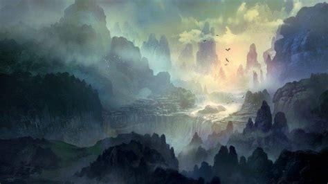 mist mountain trees river deviantart wallpapers hd desktop and mobile backgrounds