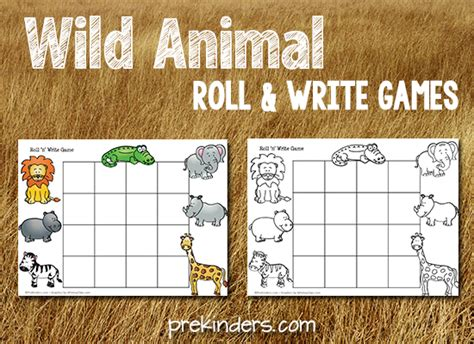 safari theme prekinders 458 | wild animal roll write