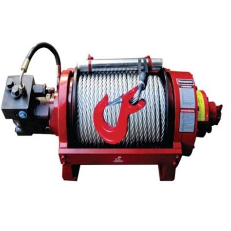 detail k2 20 000 lb capacity industrial duty hydraulic winch with 157 ft steel cable 20nhs0h