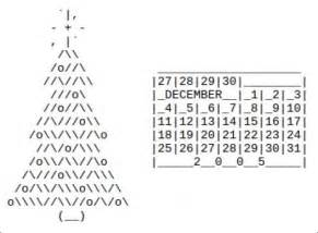 Christmas Tree With Keyboard Symbols