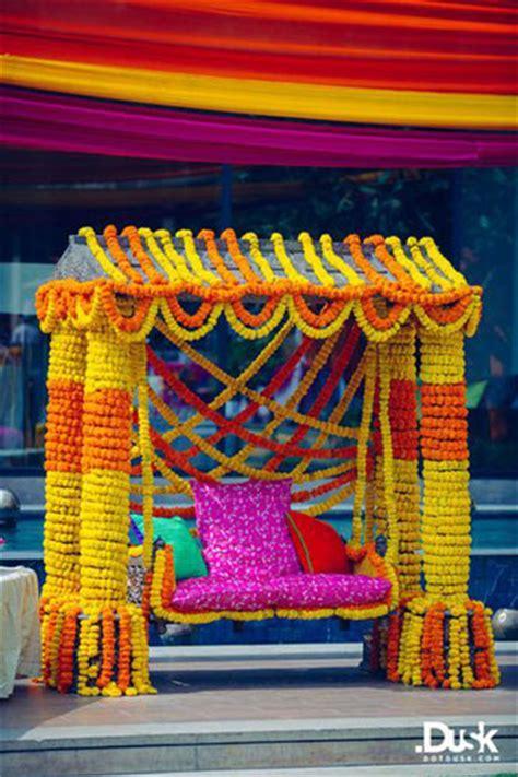 bridal bed   mehndi swing bridal seat ideas