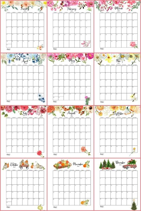 printable monthly calendar planner pages