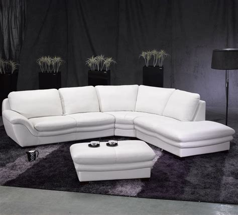 white leather sectional sofa modern sectional sofa in white leather s3net sectional