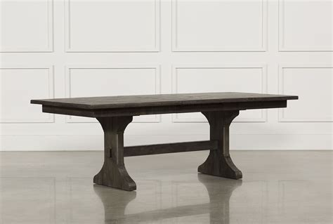 living spaces kitchen tables valencia 72 inch trestle dining table living spaces