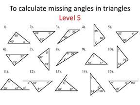 Find Missing Angles Worksheet Interior Angles Of A Triangle Worksheet Abitlikethis