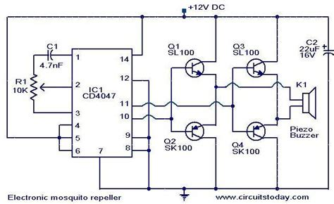 Electronic Mosquito Repeller Circuits