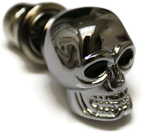 chrome skull cigarette lighter plug cover universal