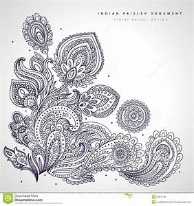 beautiful indian floral ornament wedding stock vector With wedding invitation flower ornaments
