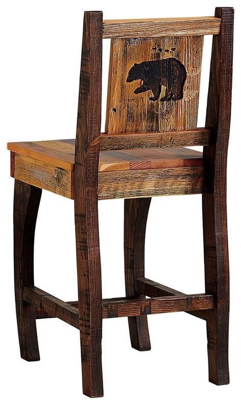 barnwood dining room furniture collection barstool bear