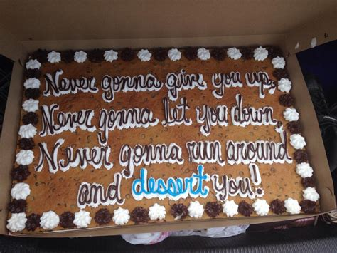 rickroll cookie cake   gonna give   lyrics