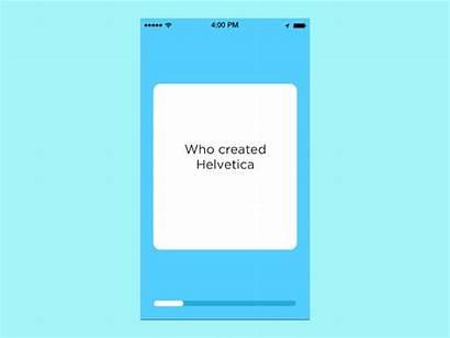 Flashcard App Dribbble Card Flip Exploration Study