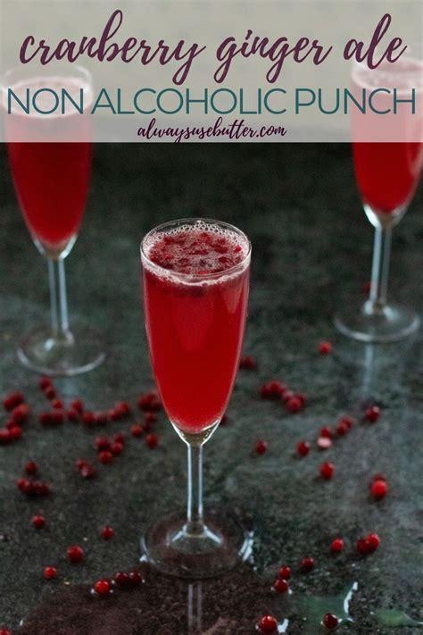 mocktail cranberry ginger ale ginger ale punch ginger ale