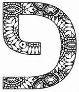 Hebrew Coloring Letters Alphabet Decorated Script Learn Vowels Writing Mandala sketch template