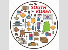 Set of south korea icons Vector Image 2013510