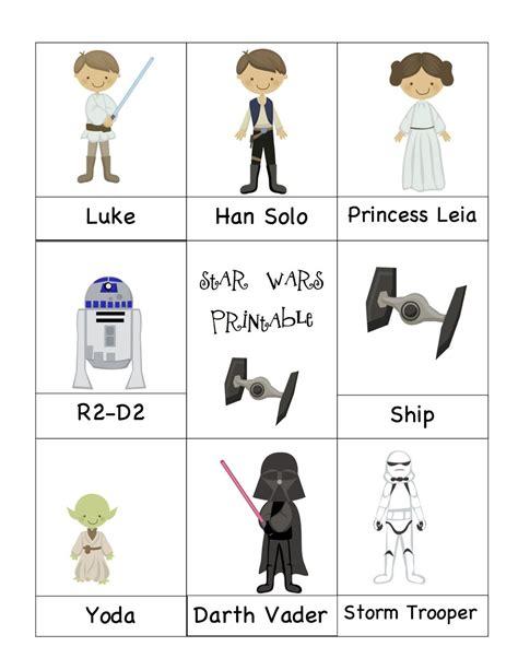 preschool printables wars starwars