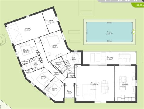 plan maison 100m2 plein pied 3 chambres avis plan maison plain pied en v 150m 158 messages