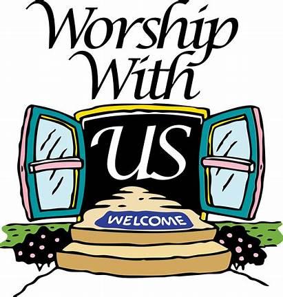Worship Clipart Schedule Service Church Sunday Morning