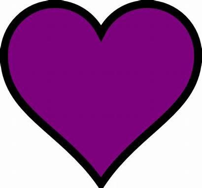 Heart Purple Clip Clker Clipart Welcome Vector