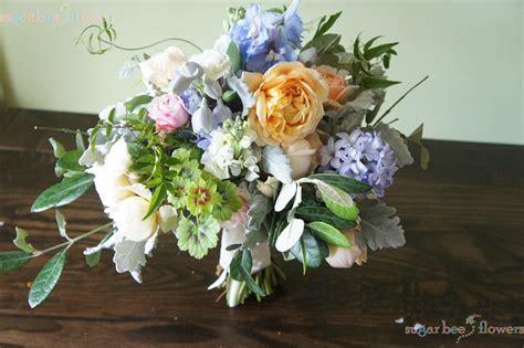 Sugar Bee Flowers Pastel 'natural' Wedding Bouquet