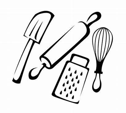 Baking Cartoon Utensils Cooking Spatula Chefs Rubber