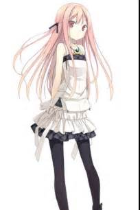 Pretty Anime Girl with Light Pink Hair