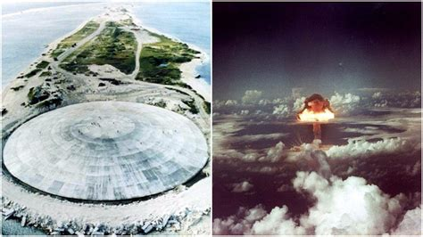 A Concrete Dome On The Runit Island Contains 111,000 Cubic ...